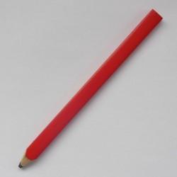 Плоско-овальный карандаш Стандарт, длиной 175 мм, корпус красный