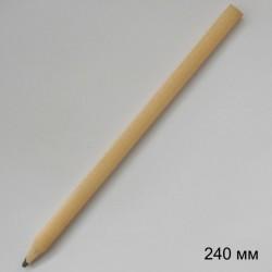 Плоско-овальный карандаш Стандарт, длина 240 мм, лакированное дерево