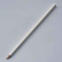 Трехгранный карандаш Премиум, белый глянцевый