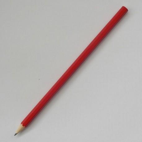 Шестигранный карандаш Стандарт, корпус красный